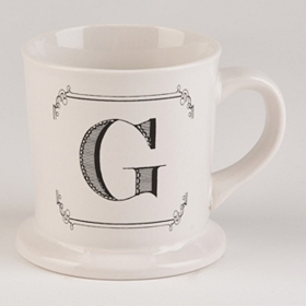 Black & White Monogram G Mug