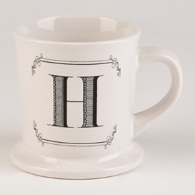 Black & White Monogram H Mug
