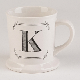 Black & White Monogram K Mug