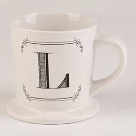 Black & White Monogram L Mug
