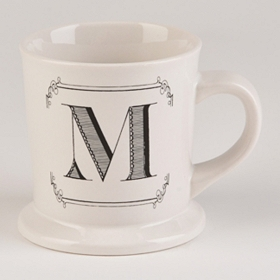 Black & White Monogram M Mug