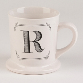 Black & White Monogram R Mug