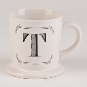 Black & White Monogram T Mug