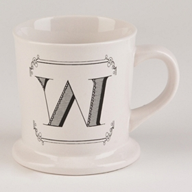 Black & White Monogram W Mug