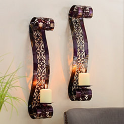 Purple Parker Scroll Sconce, Set of 2