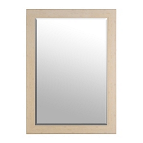 Cream Woodgrain Framed Mirror, 29x41