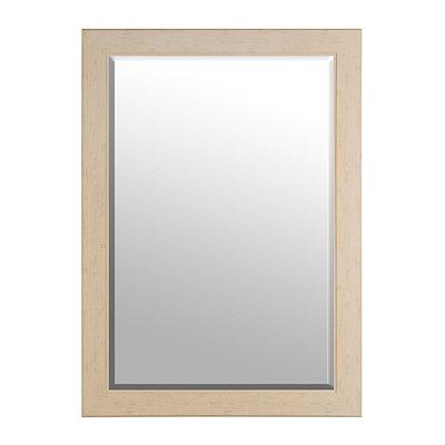 Cream Woodgrain Framed Mirror, 29x41
