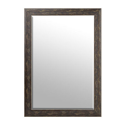 Dark Woodgrain Framed Mirror, 29x41
