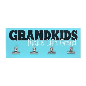 Blue Grandkids Make Life Grand Wall Plaque