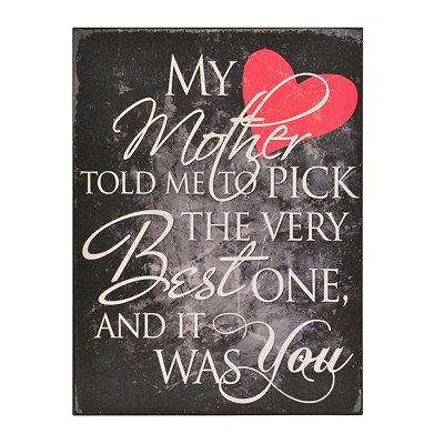 The Best One Wooden Wall Plaque
