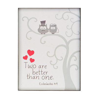 Two Are Better Than One Wooden Wall Plaque
