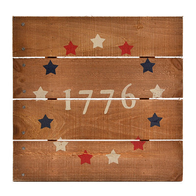 1776 Wooden Wall Plaque