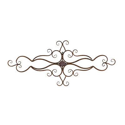 Zoe Metal Wall Plaque