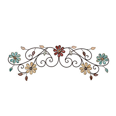 Olivia Floral Metal Plaque