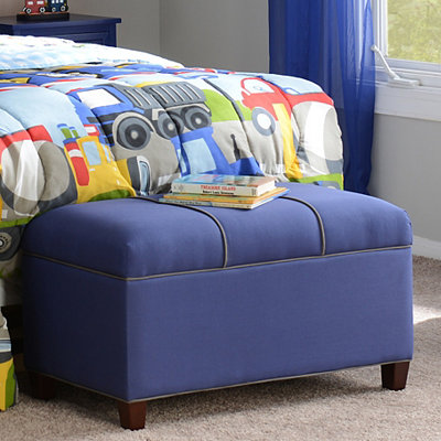 Boys Blue Storage Bench