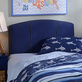 Boys Blue Twin Headboard