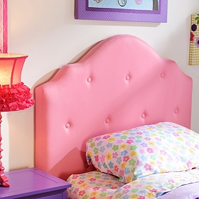 Girls Pink Twin Headboard