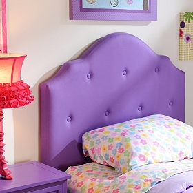 Girls Purple Twin Headboard