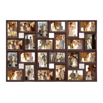 Brown 24 Opening Collage Frame