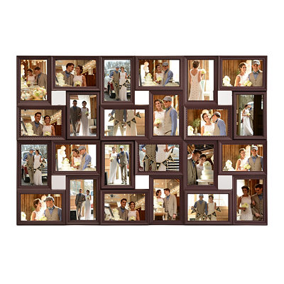 Brown 24-Opening Collage Frame