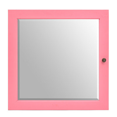 Mini Pink Jewelry Armoire Mirror