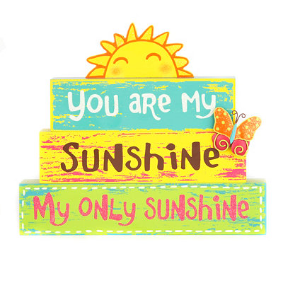 You Are My Only Sunshine Word Block