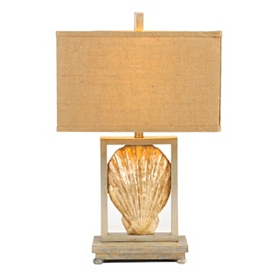 Sun Toasted Shell Table Lamp