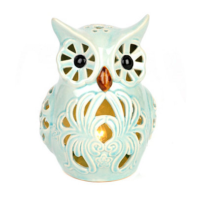 Blue Tabletop Owl Night Light