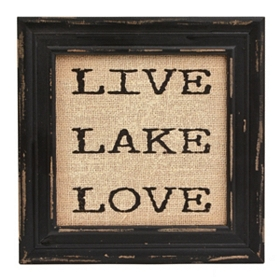 Live Lake Love Framed Plaque