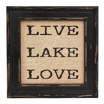 Live Lake Love Framed Plaque