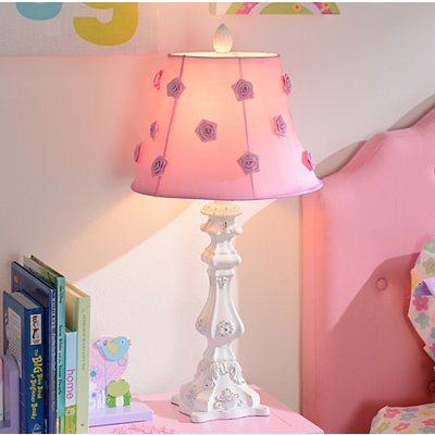 Pink Rosette Table Lamp