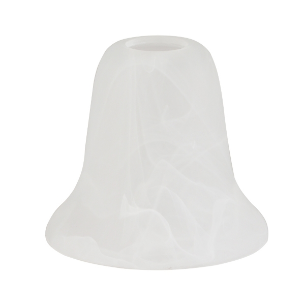 frosted white torchiere arm shade