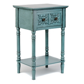 Blue Medallion Accent Table