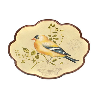 Yellow Finch Decorative Plate