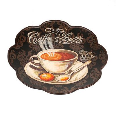 Caffe Latte Scalloped Decorative Plate