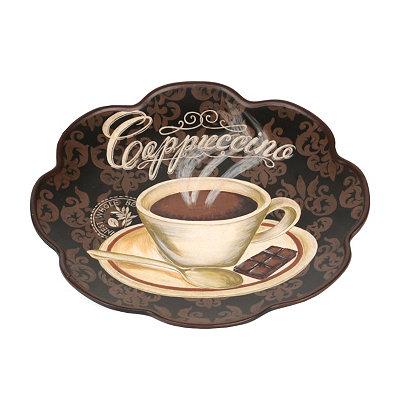 Cappuccino Scalloped Decorative Plate