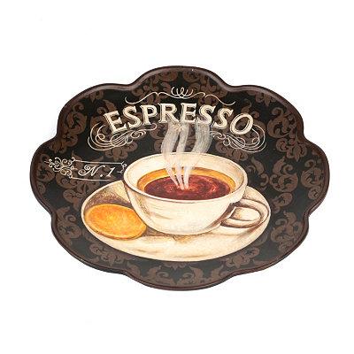 Espresso Scalloped Decorative Plate