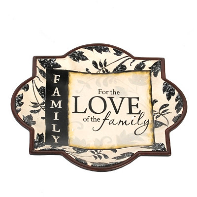 For the Love of the Family Decorative Plate