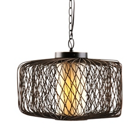 Rattan Trap Pendant Light