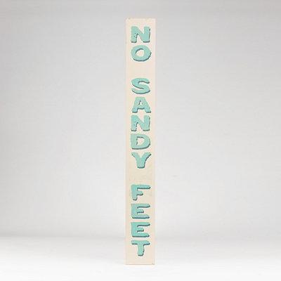 No Sandy Feet Wooden Plaque