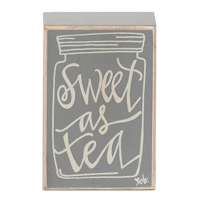 Sweet as Tea Mason Jar Word Block