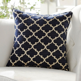 Navy Sandglass Accent Pillow