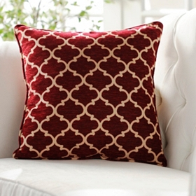 Red Sandglass Accent Pillow
