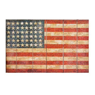 American Flag Wooden Wall Plaque