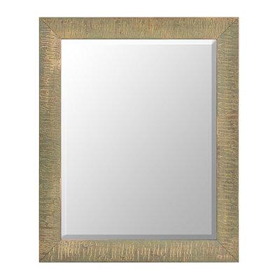 Ridged Antiqued Silver Mirror