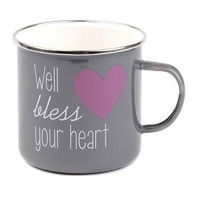 Gray Bless Your Heart Farmhouse Mug