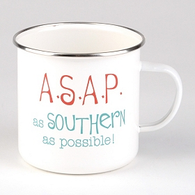 White A.S.A.P. Farmhouse Mug