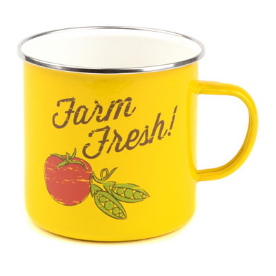 Yellow Farm Fresh Farmhouse Mug