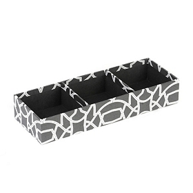 Black and White Organizer Tray
