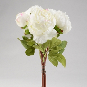 Cream Peony Bouquet, 15 in.